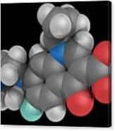 Ciprofloxacin Drug Molecule Canvas Print