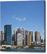 Circular Quay In Central Sydney Australia Canvas Print