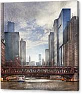City - Chicago Il - Looking Toward The Future Canvas Print