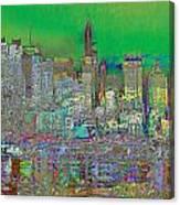 City Garden Art Landscape Canvas Print