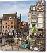 City Of Amsterdam In Netherlands Canvas Print