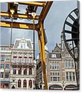 City Of Amsterdam Urban Scenery Canvas Print