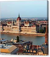 City Of Budapest Cityscape Canvas Print