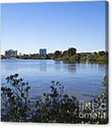 City Of Melbourne On The Intracoastal Waterway In Central Florid Canvas Print