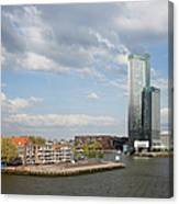 City Of Rotterdam In Netherlands Canvas Print