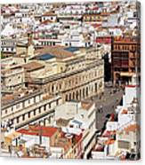City Of Seville Cityscape In Spain Canvas Print