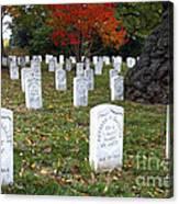 Civil War Dead At Arlington Canvas Print