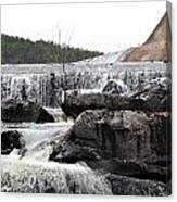 Clayton Lake Spillway Canvas Print