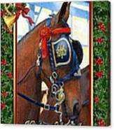 Cleveland Bay Horse Christmas Card Canvas Print