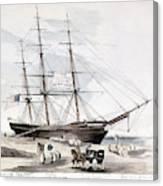 Clipper Flying Cloud, 1851 Canvas Print