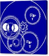 Clock Gears Blueprint Canvas Print