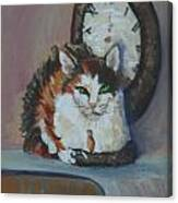 Clockwork Cat Canvas Print