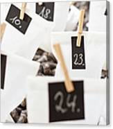 Close Up Of Numbered Bags Canvas Print