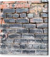 Close-up Of Old Brick Wall Canvas Print
