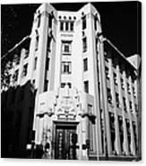 closed branch of banco estado the state bank Santiago Chile Canvas Print