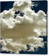 Cloud On Dark Sky. Canvas Print