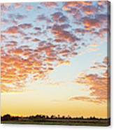 Clouds Over Landscape At Sunset Canvas Print