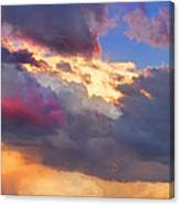 Cloudscape Sunset Touch Of Blue Canvas Print