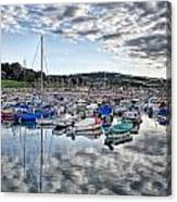 Cloudy Morning - Lyme Regis Harbour Canvas Print