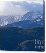 Cloudy Peak Canvas Print