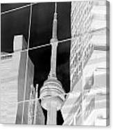 Cn Tower Reflected Canvas Print