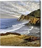 Coastal Beauty Impasto Canvas Print