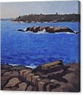 Coastal Waters Of Maine - Art By Bill Tomsa Canvas Print