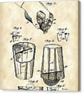 Cocktail Mixer And Strainer Patent 1902 - Vintage Canvas Print