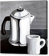 Coffee's On Canvas Print
