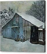 Cold Day On The Farm Canvas Print
