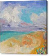 Collapsed Sand Castle Canvas Print