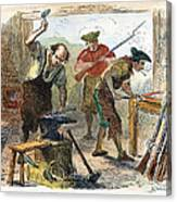Colonial Blacksmith, 1776 Canvas Print