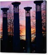 Colonnade In A Park At Sunset, 95 Bell Canvas Print
