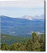 Colorado Continental Divide 5 Part Panorama 5 Canvas Print