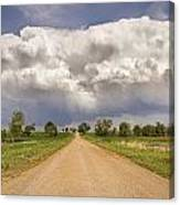Colorado Country Road Stormin Skies Canvas Print