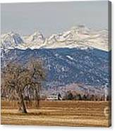Colorado Front Range Continental Divide Panorama Canvas Print