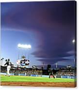 Colorado Rockies V Los Angeles Dodgers Canvas Print