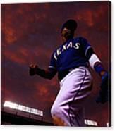 Colorado Rockies V Texas Rangers Canvas Print