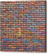 Colorful Brick Wall Texture Canvas Print