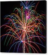 Colorful Fireworks Canvas Print