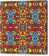 Colorful Folklore Pattern Canvas Print