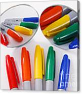 Colorful Markers Canvas Print