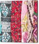 Colorful Scarves Canvas Print