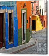 Colorful Street, Mexico Canvas Print