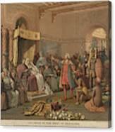 Columbus At Barcelona Canvas Print