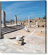 Columns In Archaeological Site Canvas Print