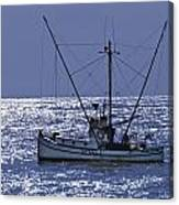 Commercial Fishing Boat Dickey Byrd Out Of Half Moon Bay Canvas Print