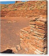 Community Room At Wupatki Pueblo In Wupatki National Monument Canvas Print