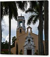 Congregational Church Of Coral Gables Canvas Print