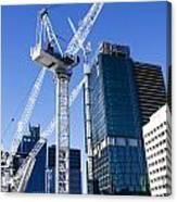Construction City Canvas Print